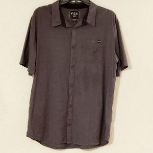 Fox Button Down Short Sleeve Shirt